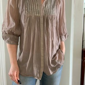 Dex Sheer Blouse with Sequin detail